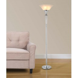 "Artiva USA Crystal Suite Collection 70""H Modern Chrome 3-Light LED Crystal Torchiere Floor Lamp with Dimmer"