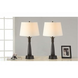 Artiva USA 28-inch Classic Antique Bronze Finished Table Lamp with Handpainted Gold Tracing (Set of 2)