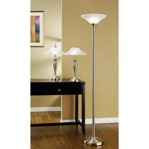 9478mx artiva usa 3 piece 71 inch torchiere and 24 inch table lamps with aloadofball Image collections