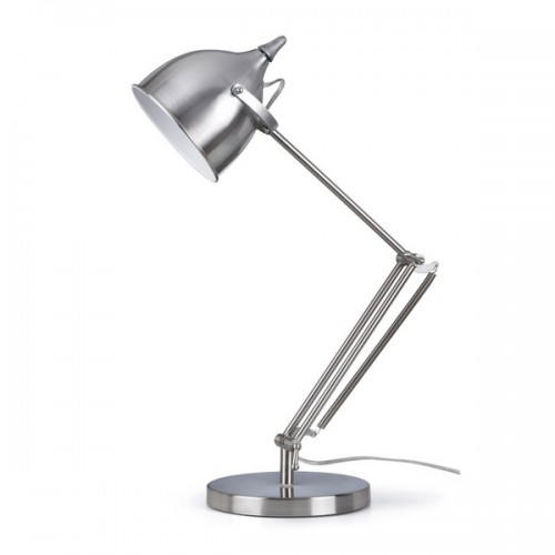 Charmant Artiva USA Silverado Contemporary Brushed Steel Metal 27.5 Inch Table Lamp  With Adjustable Swing Arm
