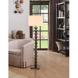 "Artiva USA ""Cosimo"" Dual-Light 61"" Jet Black Steel Ball LED Floor Lamp W/ Dimmer"