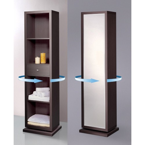 Artiva Usa Home Deluxe Mirror And Swivel Floor Cabinet