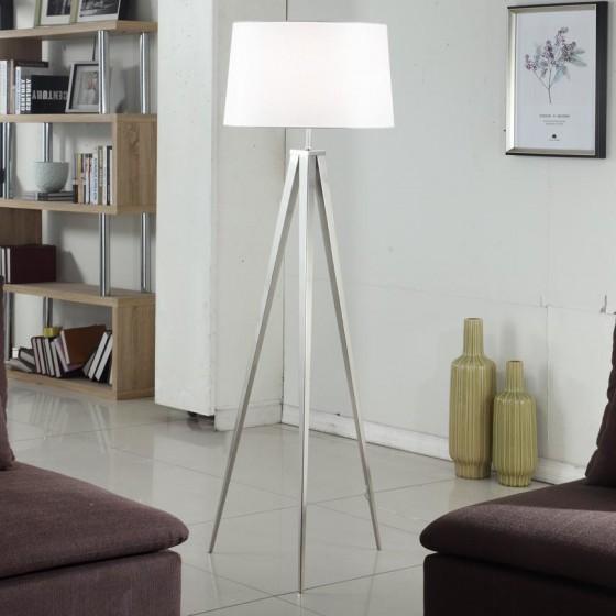 Artiva Hollywood 63-inch Brushed Nickel Tripod Floor Lamp