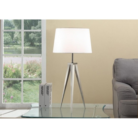 Artiva Hollywood 30-inch Brushed Steel Tripod Table Lamp